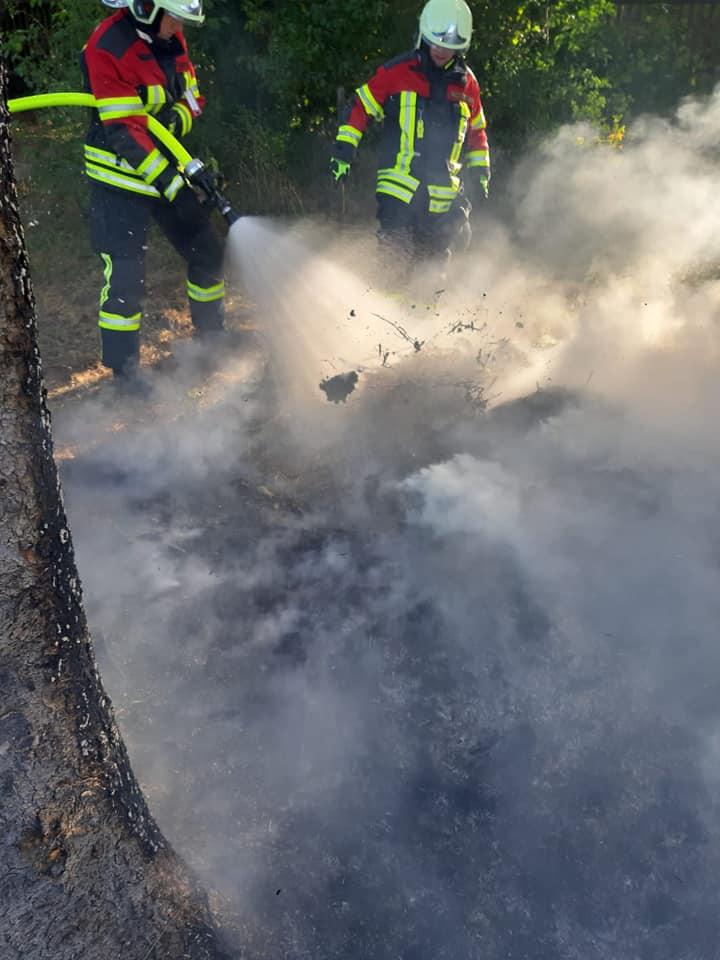 Durch das schnelle Eingreifen der Feuerwehr, konnte eine Ausbreitung des Feuers, verhindert werden.
