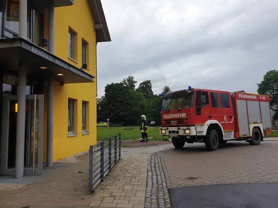 Am 07.08.2019, um kurz vor 8 Uhr, ging im Bertold-Anzius Kindergarten, die Brandmeldeanlage los.