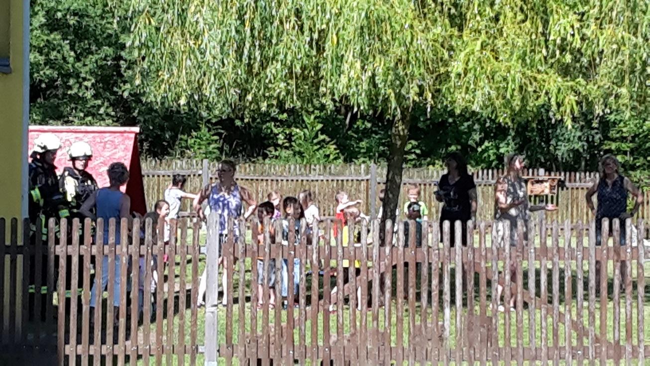 Kindergarten Bertold Anzius der Einsatzübungsteil!