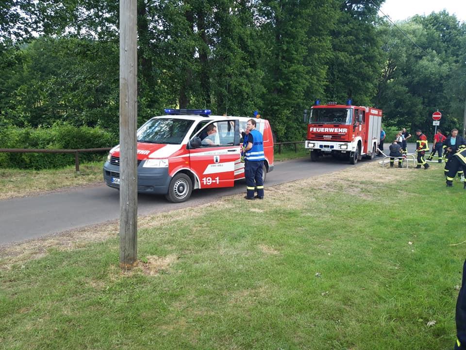 Es stellte sich heraus, das es eine unangekündigte Einsatzübung war, um im Ernstfall eines Waldbrandes, schnell und gezielt helfen zu können.