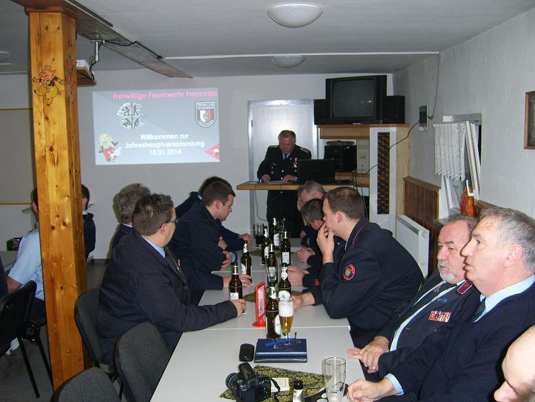 Jahreshauptversammlung 2014 Eröffnung durch den Vereinsvorsitzenden Armin Gössel.