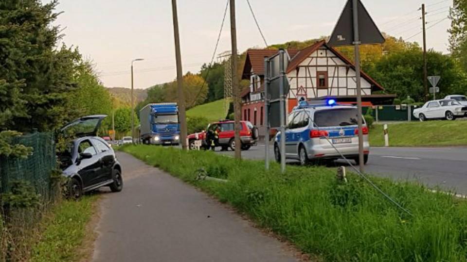 04.05.2018 Verkehrsunfall Ortsausgang Farnroda