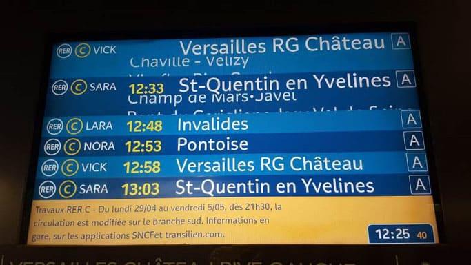 Zug von Paris nach Versailles