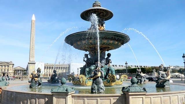 Paris Place de la Concorde Brunnen und Obelisk