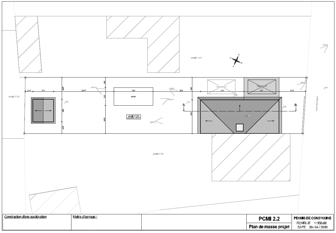 plan de masse du projet