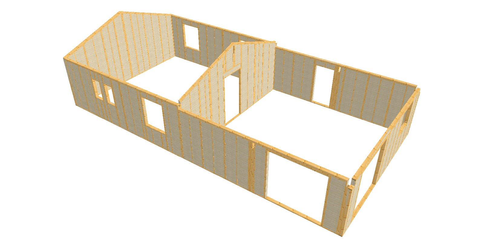 vue 3D des murs