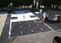 マット舗装作業