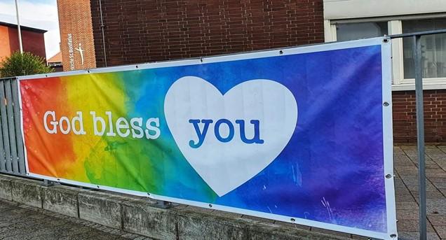 Banner an der Kita St. Bonifatius (gestohlen)