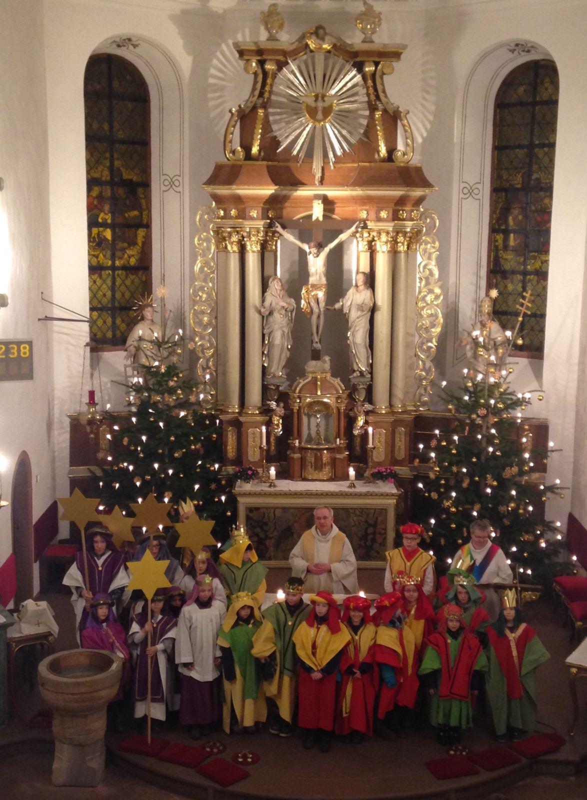 ...beim Gottesdienst in St. Laurentius