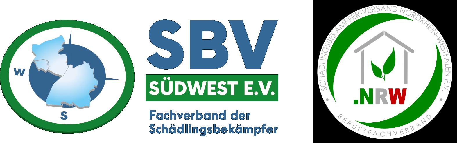 """Logo """"Deutscher Schädlingsbekämpferverband Südwest e.V. """" plus Bildtext"""