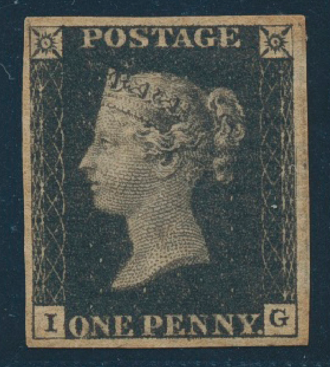 One Penny Black 1840 GB