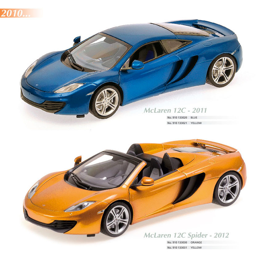 Maxichamps, McLaren 12C 2011, Scale 1:18, Maxichamps, McLaren 12C Spyder 2011, Scale 1:18