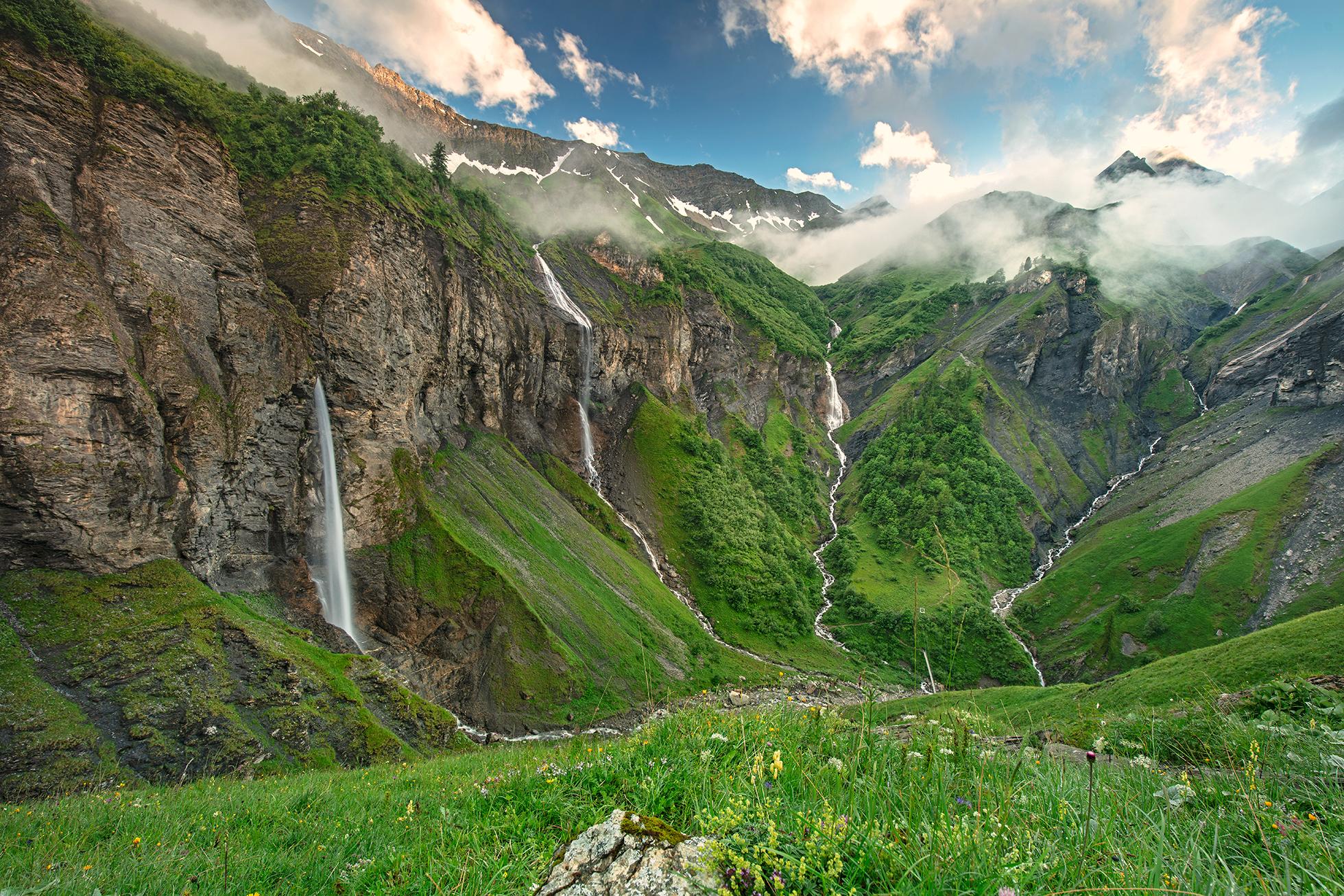Batöni Wasserfälle Heidiland
