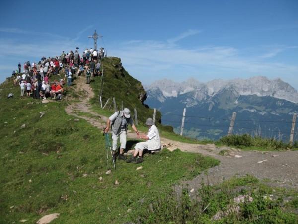 Bergmesse beim Gipfelkreuz Kitzbüheler Horn