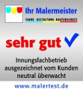 Malermeister Ach erhält von www.malertest.de das Qualitätssiegel: sehr gut !