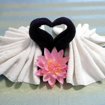 Dekoration aus Handtücher
