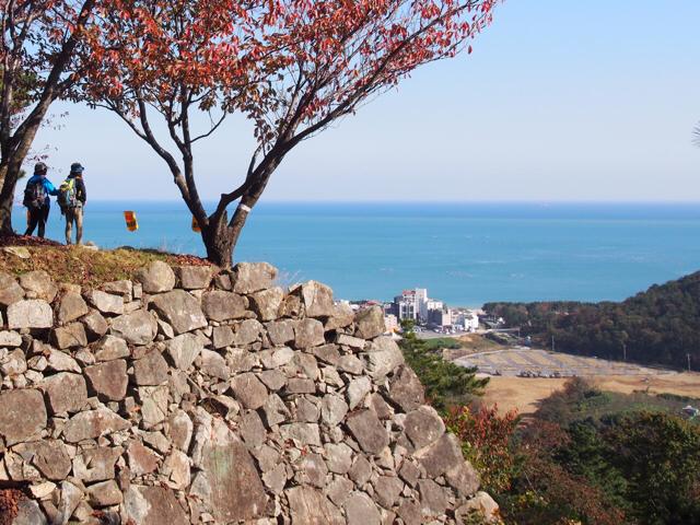 加藤清正が築いた西生浦城から日本海を眺める