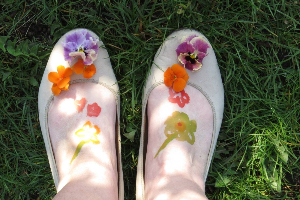 Meine Füße aus der Vogelperspektive