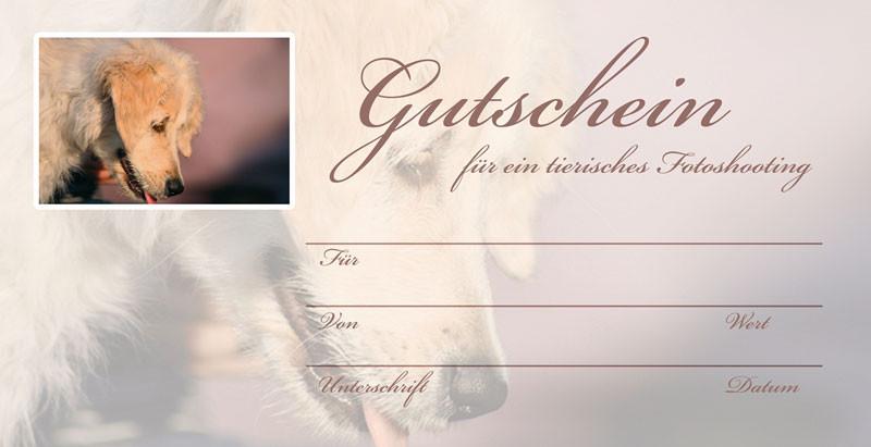 Geschenk Gutschein Vorderseite