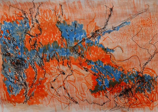 Johanna Schott //  o. T. 15 // Mischtechnik auf Papier // 21 x 29,7 cm // 2018