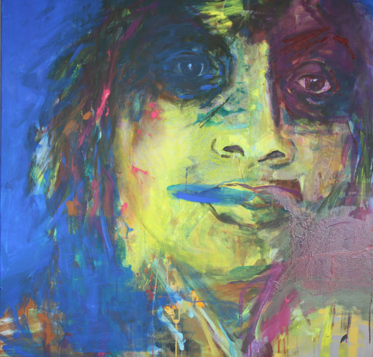Face to face   100 x 100 cm