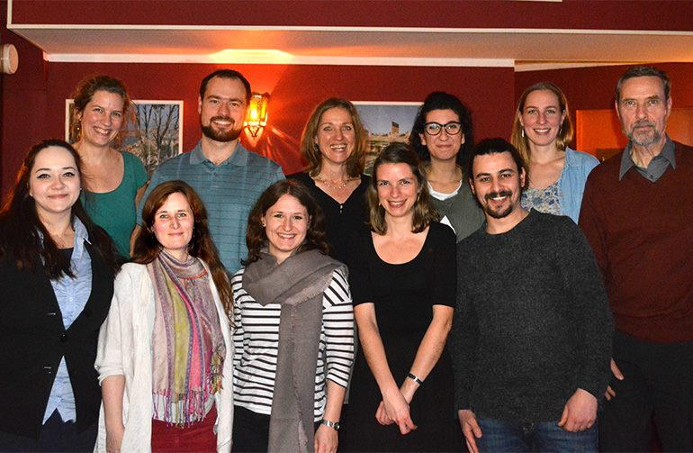 Von oben links nach unten rechts: Laura, Philipp, Ines, Sarah, Pauline, Ulrich; Peggy, Katrin, Anna, Nadia, Mohammad