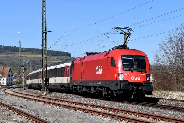 SBB ÖBB 1116 Intercity Stuttgart Bahnfoto P.Trippi