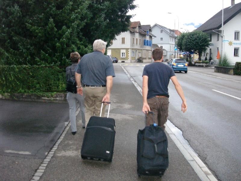 zum Glück gibt es Koffer mit Rädern