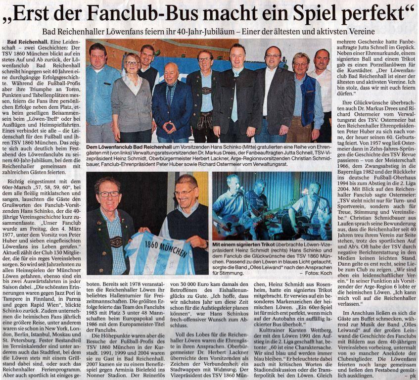 Olles Leiwand spielt Austropop beim Löwenfanclub Bad Reichenhall
