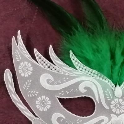 <h2>cadre masque vénitien en dentelle de papier - détails<h2>