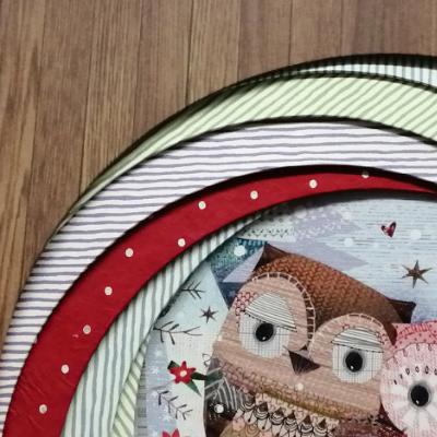 <h2>cadre chouettes de Noël - détails<h2>