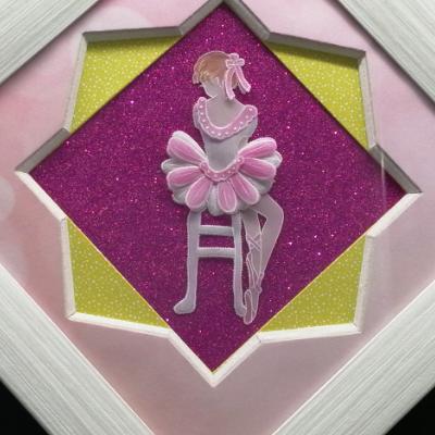 <h2>cadre danseuse en dentelle de papier - détails<h2>