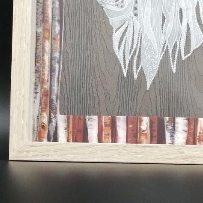 <h2>cadre Loup en dentelle de papier - détails<h2>