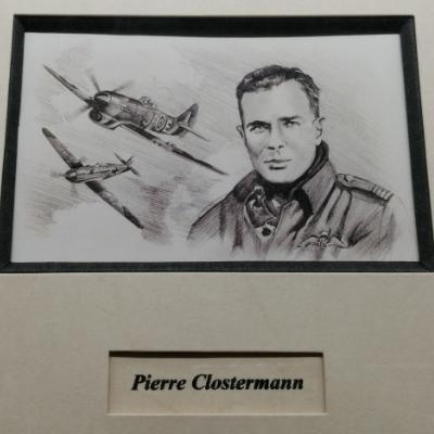 <h2>cadre Aviateurs - Pierre Claustermann détails<h2>