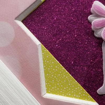 <h2>cadre danseuse en dentelle de papier - détails papier scintillant<h2>