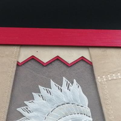 <h2>cadre Indienne en dentelle de papier - détails haut tipi<h2>