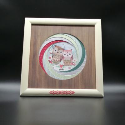 <h2>cadre chouettes de Noël - tourbillon de ronds<h2>