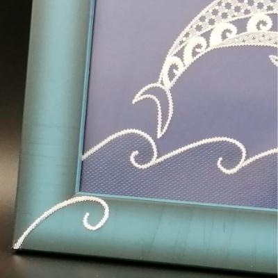<h2>cadre dauphin en dentelle de papier - détails <h2>