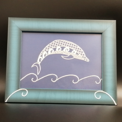 <h2>cadre dauphin en dentelle de papier<h2>