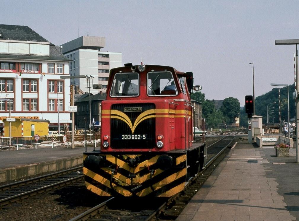 Richtung Kerkerbach, Runkel bis Villmar sowie nach Niederbrechen wurden die Loks von der Bundersbahn eingesetzt