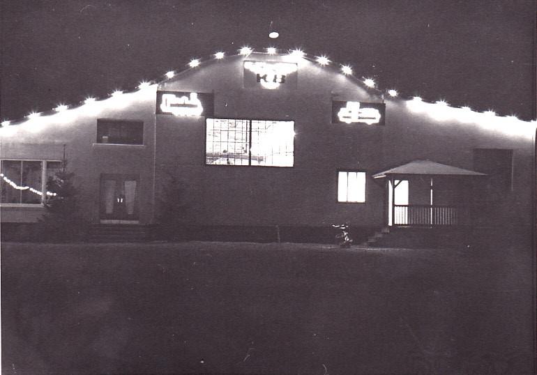 Die Werkstatt, auch im dunkeln festlich geschmückt