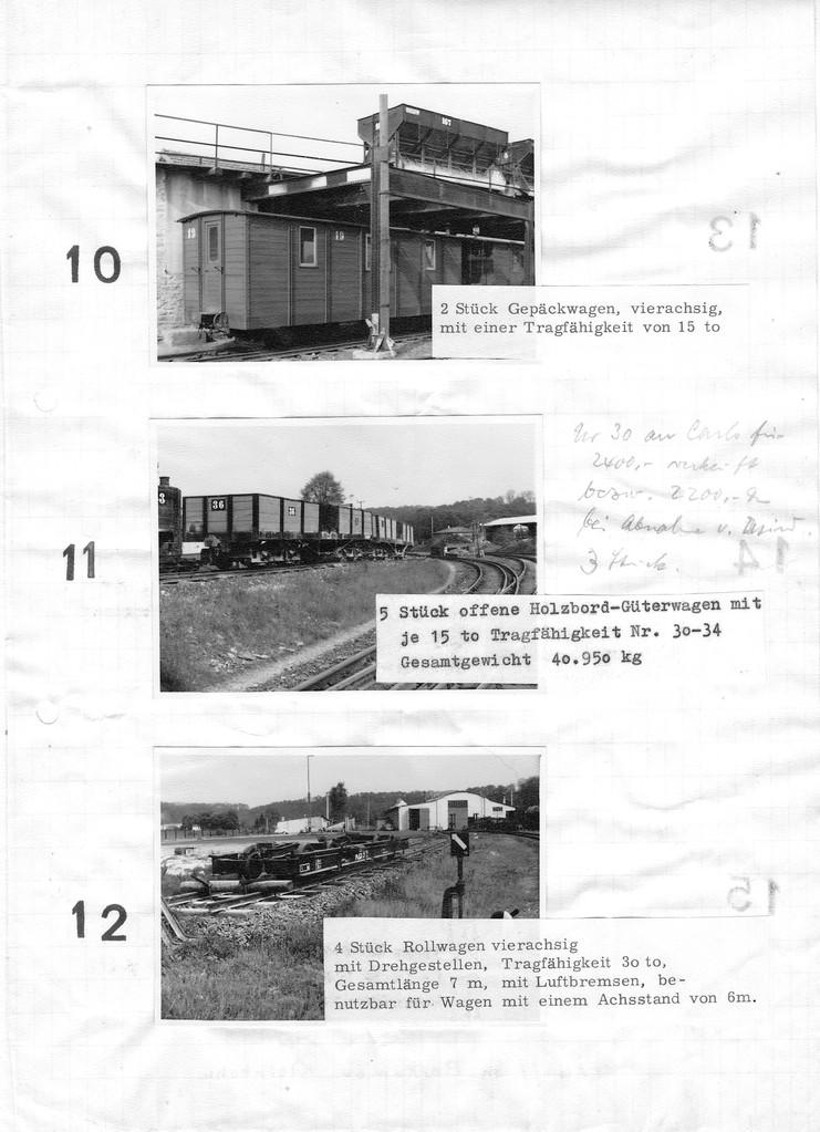 Seite 4 des Verkaufskatalogs, Einmalige Aufnahme der Rollwagen bei Los 12
