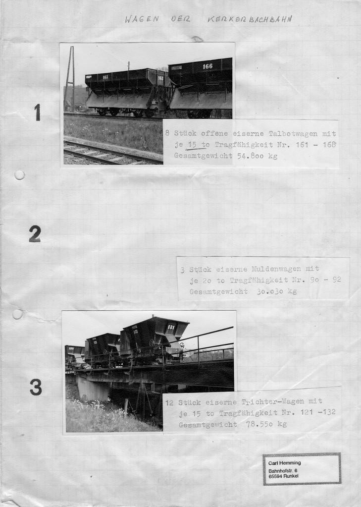 Seite 1 des Verkaufskatalogs, Mit Weitsicht bewahrt von Carl Hemming Runkel