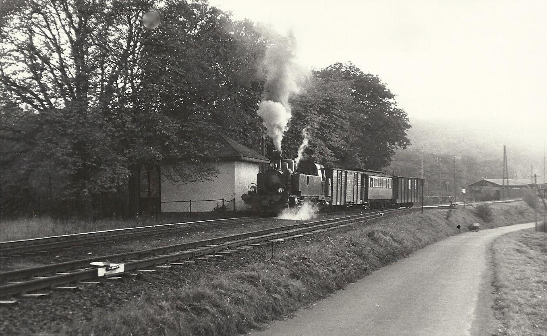 Schöner Personenzug mit Wagen 19, Wagen 4 und 19