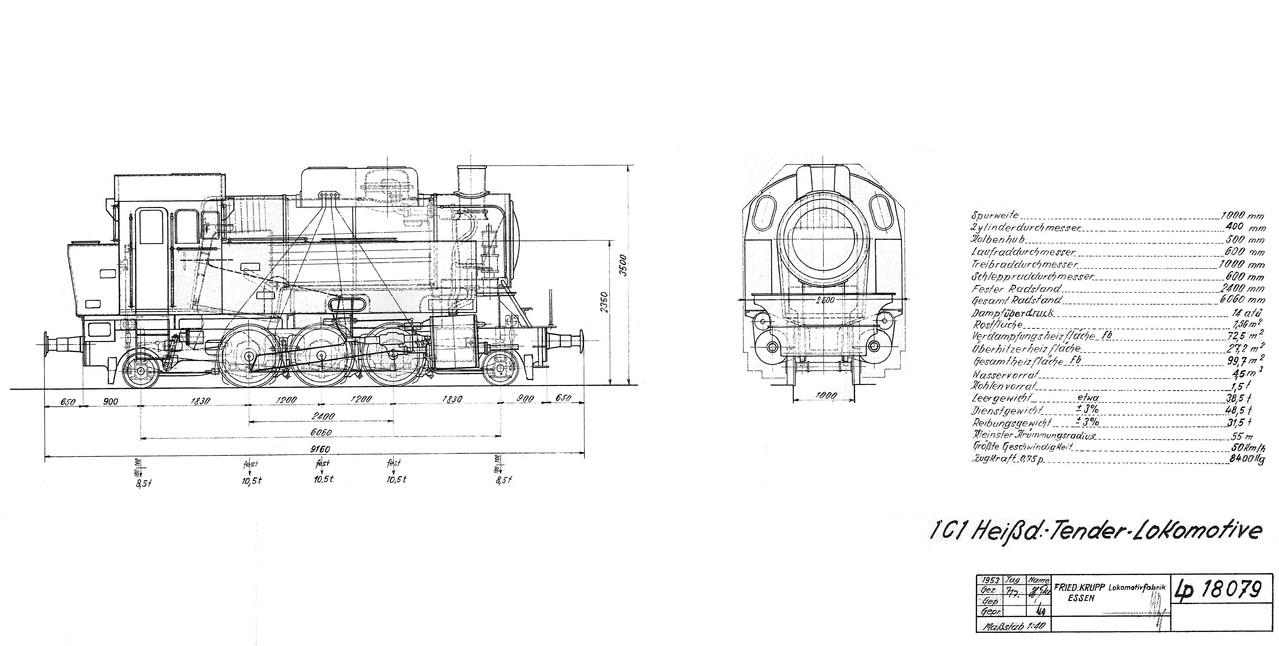 Die Lok der Fa. Krupp ist baugleich mit 99 6001 der Selfkantbahn aus dem Jahre 1939