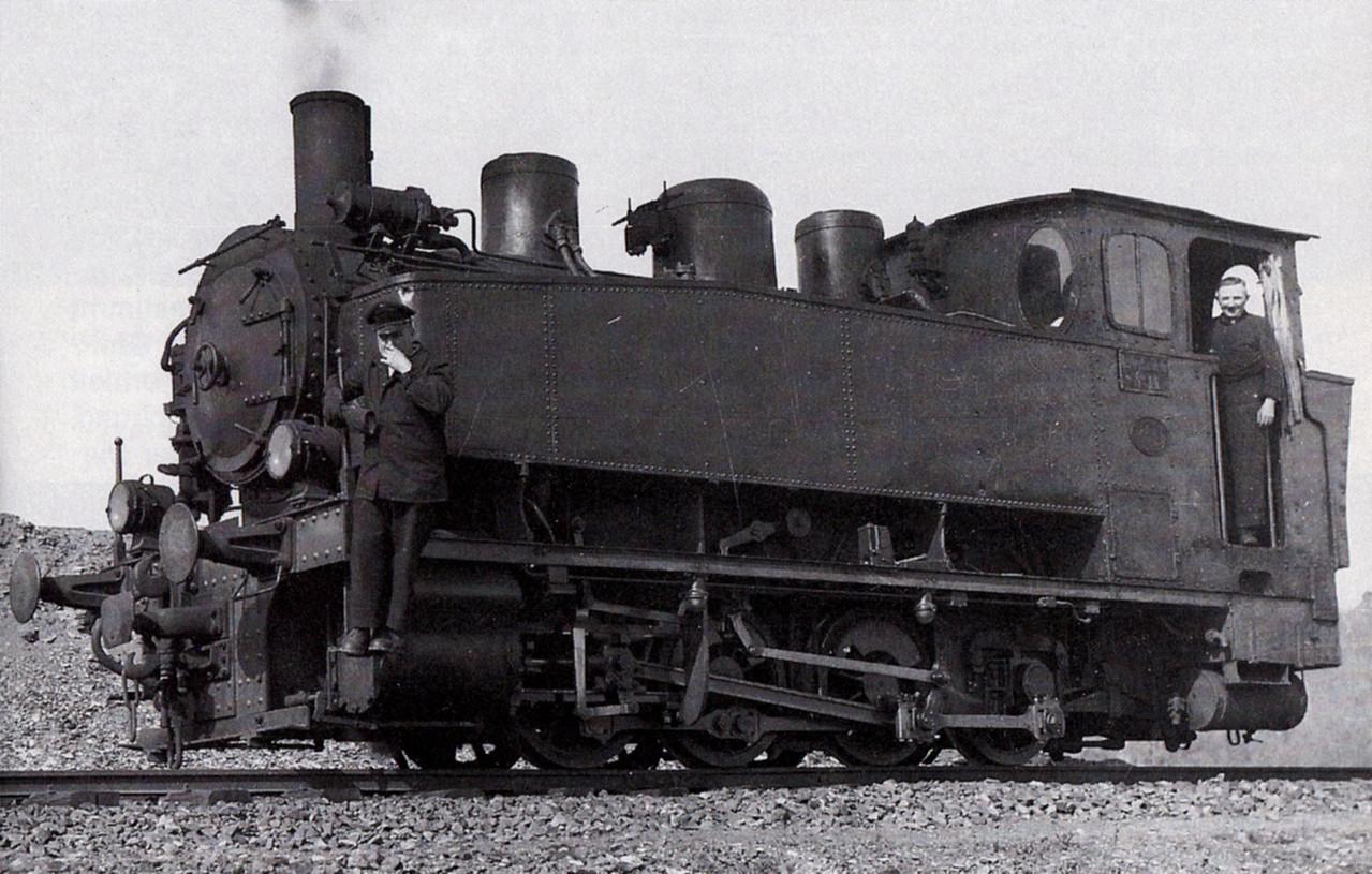Lok 14 beim rangieren in Kerkerbach ca 1930