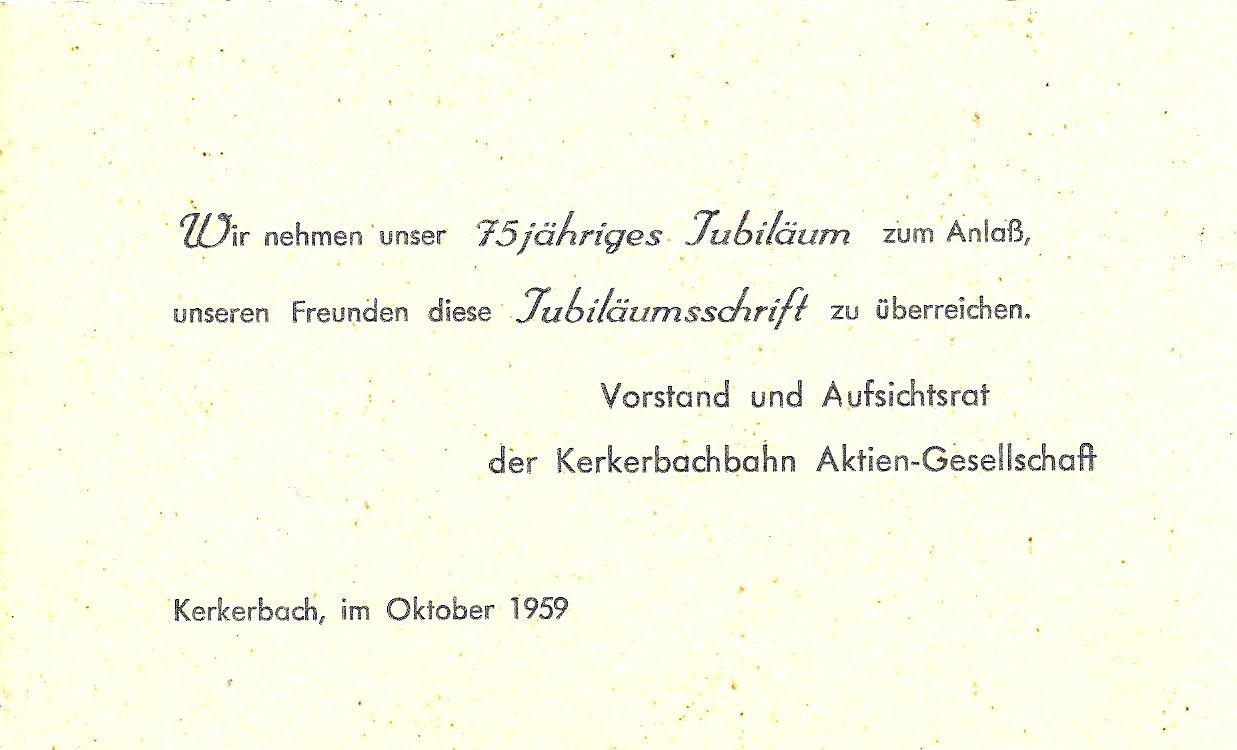 Anschreiben zur Übergabe der Festschrift und Einladung zur Feier