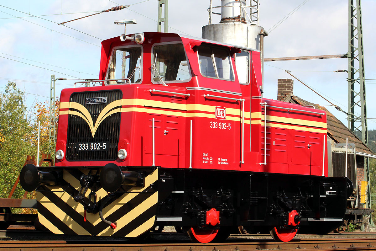Am 14.10.2013 fotografierte A. Kabelitz die Lok in Altenbeken