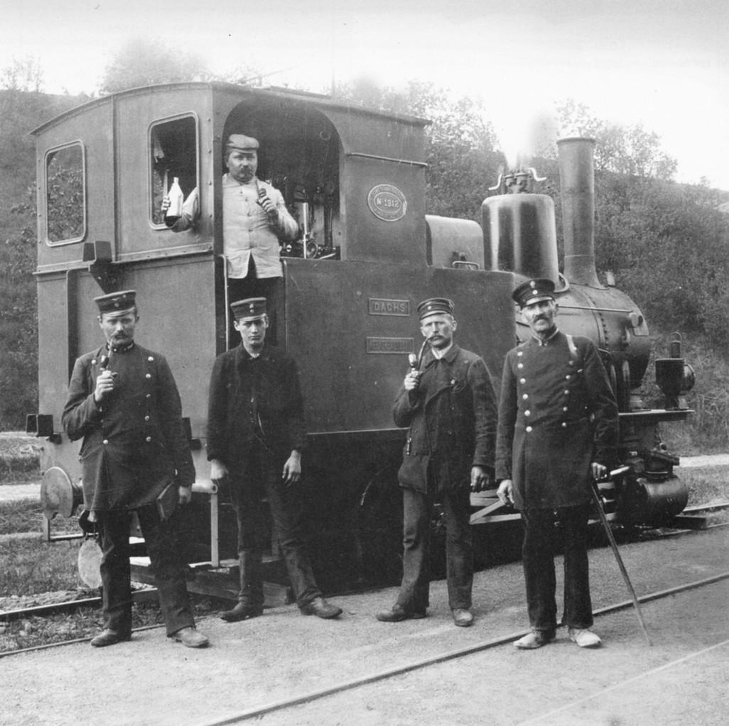 Lok 3 Dachs im jahre 1914 in Eschenau