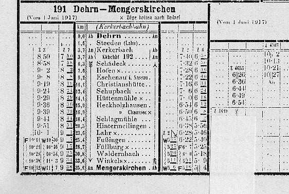 Kursbuch 1917